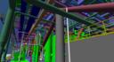 Simulando uma plataforma. Modelo vindo direto do AutoCAD